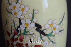 Gorgeous! Japanese Vintage Cloisonne Vase with The Four Classic Plants 200