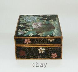 Important Early Japanese Cloisonne Enamel Box Signed by Masatoku