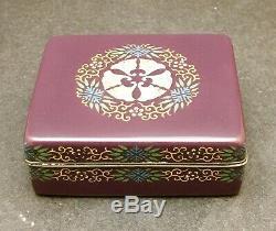 Important Japanese Meiji Cloisonne Box by Hayashi Tanegoro