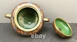 Important Japanese Meiji Cloisonne Jar with Handles