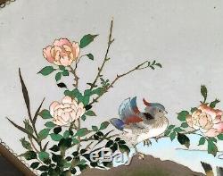 Important Japanese Meiji Cloisonne Tray attrib. To Namikawa Sosuke