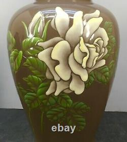 Important Japanese Meiji Moriage Cloisonne Vase by Ando