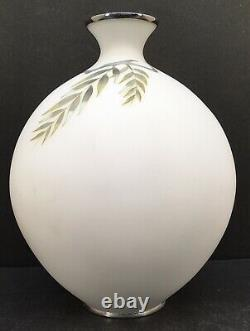Important Japanese Taisho Cloisonne Vase With Gold Wire By Tamura