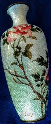JAPANESE Cloisonne Antique MEIJI 1868-1912 Vase by HATTORI TADASABURO