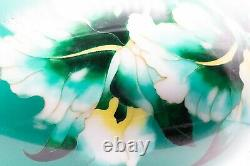 Japan 1950, Showa Period Ando Cloisonne Enamel Green Vase Exceptional Piece