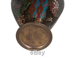 Japan 20. Jh. Emaille A Japanese Hexagonal Cloisonne Enamel Vase Giapponese