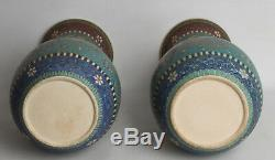 Japan 20. Jh. Paar Große Vasen -A Pair Of Japanese Totai Shippo Cloisonne Vases