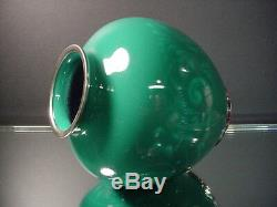 Japanese Cloisonne 6 Ht Dark Jade Scrollwork Wireless Vase attrib. Ando Jubei