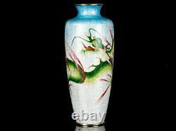 Japanese Cloisonné Enamel Ginbari Dragon Vase