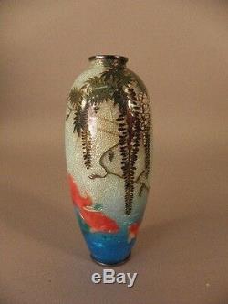 Japanese Cloisonne Vase By Hattori Tadasaburo Circa 1900