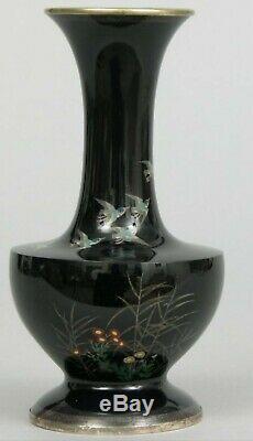 Japanese Cloisonne Vase Meiji Hayashi Kodenji