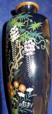 Japanese Cloisonne Vase With Floral Decoration