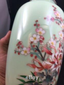 Japanese Cloisonne Vase by Ando Jubei