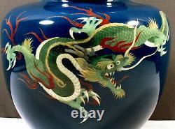 Japanese Cloisonne Vase in Box MEIJI SIGNED