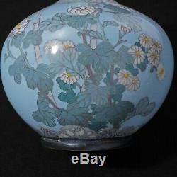 Japanese Cloisonne Vase with Chrysanthemum Design Meiji period Circa 1900