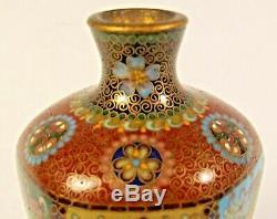 Japanese Kyoto Jippo Cloisonne Enamel Vase