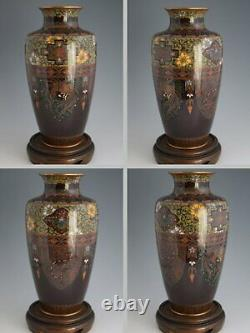 Japanese Late Meiji Period Wired Cloisonné Vase with Phoenix & Dragon Design 249