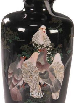 Japanese Meiji Period Kodenji Style Cloisonne Vase