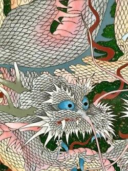 Japanese Meiji Wire & Wireless Cloisonne Charger with Dragons