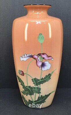 Japanese Meiji Wirless Cloisonne Vase By Gonda