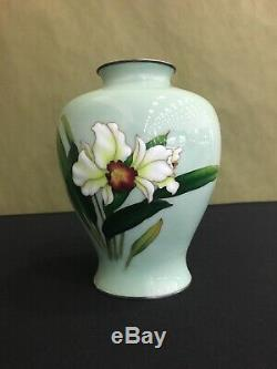 Japanese Moriage Cloisonne vase