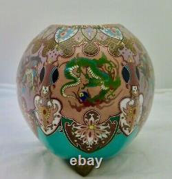 Japanese Mythical Cloisonne' Vase