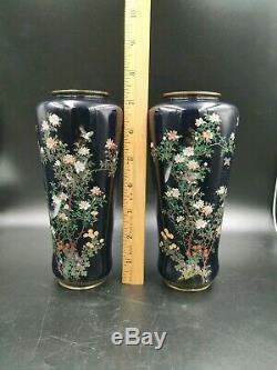 Japanese Silver Wire Cloisonne Vase Kodenji Or Ota School Meiji