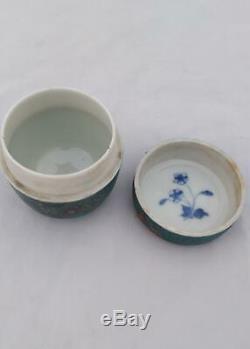 Japanese Totai Shippo Cloisonne Porcelain Lidded Jar Shippo Gaisha c 1890