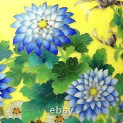 Japanese Vintage Chrysanthemum Cloisonne Large Vase 14