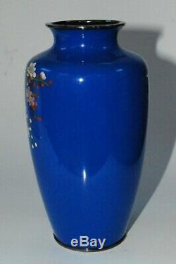 Japanese cloisonne enamel vase with Cherry Blossoms (sakura) with Artist Mark