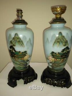 Japanese cloisonne vases pair