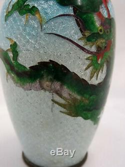 Japanische Cloisonne Vase Japan Marke Ginbari Japanese Cloisonné Vase Marked