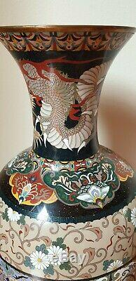LARGE JAPANESE CLOISONNE VASE, MEIJI PERIOD, C. 1880-1890's