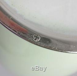 Large 12 ANDO JIBEI Japanese Celadon Cloisonne Chrysanthemum Vase Silver Signed
