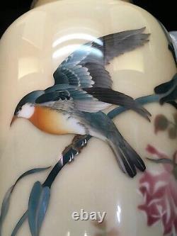 Magnificent Japanese Meiji Silver Wire & Wireless Cloisonne Vase