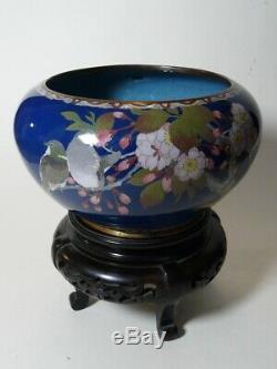 Masterpiece Japanese MEIJI Cloisonne Shippo Vase Diameter 20 cm