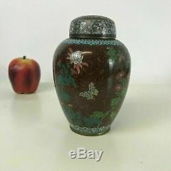 Meiji Period Japanese Cloisonne Enameled Covered Jar