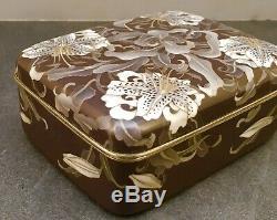 Museum Japanese Meiji Cloisonne Box with Silver Wire & Wireless Enamel