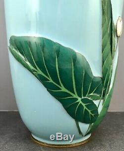 Museum Quality Large Japanese Meiji Moriage Cloisonne Vase by Ando or Gondo