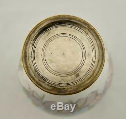 Namikawa or Gonda type Meiji Japanese cloisonne musen jippo Iris enamelled vase