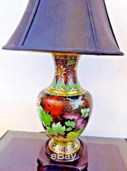 Pair Of 26 Lamps Top Quality Beijing Cloisonne/porcelain Vase Chinese/japanese