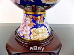 Pair Of 28 Chinese Cloisonne Vase Lamps Japanese Asian Oriental Porcelain