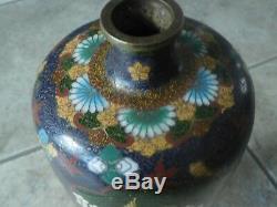 Price reduced 19 TH CENTURY JAPANESE GOLDSTONE CLOISONNE VASE