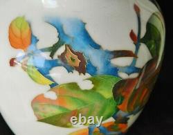 SUPERB c. 1930 Japanese Ando Jubei Cloisonne Autumn-Themed Persimmon Tree Vase