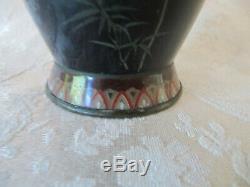 Signed Japanese Silver Wire Cloisonne Vase Golden Age Meiji Ota/Ando/Kodenji