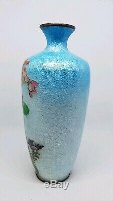 Signed jin bari japanese cloisonne vase. Rare perfect condition