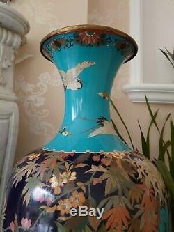 Statuesque Meiji Shippo/cloisonné Vase, Amazing Holocaust/kristallnacht Survivor