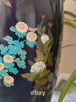 Statuesque Meiji Shippo/cloisonne Vase, Amazing Holocaust/kristallnacht Survivor