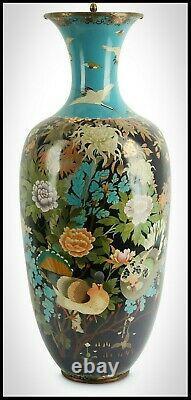 Statuesque Meiji Shippo/cloisonné Vase, Holocaust/kristallnacht Survivor