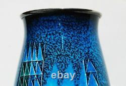 Striking Japanese Cloisonne Enamel Vase by Ota Hiroaki As-Is Condition
